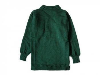 LE TRICOT DE LA MER SOLID GUERNSEY SWEATER GOODWOOD GREEN