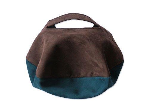 カンダミサコ circle bag mini 17:CHOCO x DARK BLUE