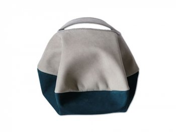 カンダミサコ circle bag mini 18:LIGHT GRAY x DARK BLUE