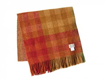 Studio Donegal TWEED MUFFLER RED MULTI