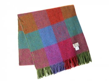 Studio Donegal TWEED MUFFLER MULTI BLOCK CHECK