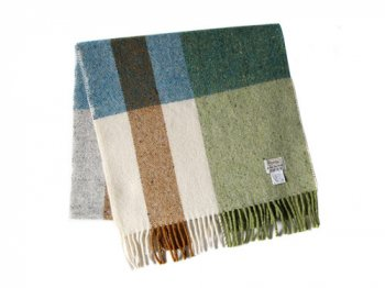 Studio Donegal TWEED MUFFLER WHITE x BLUE x GREEN