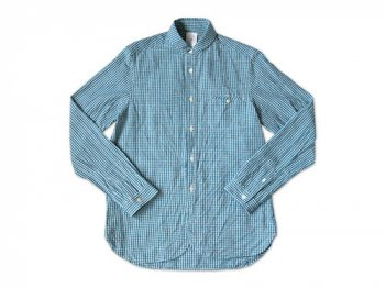 maillot sunset gingham round work shirts SAX x BLUE