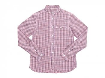 maillot sunset gingham round work shirts ORANGE x BLUE