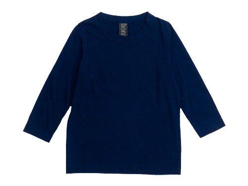 homspun 天竺七分袖Tシャツ ネイビー 【6450】