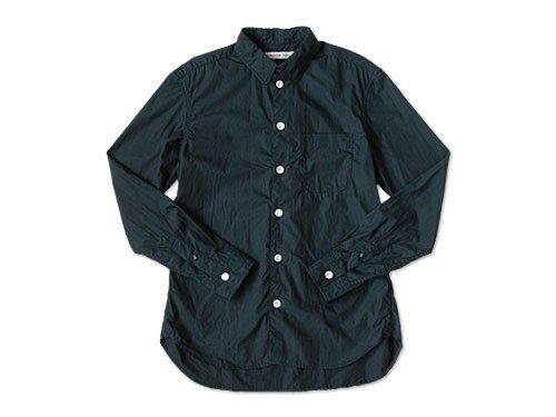 EEL 陶器釦のシャツ 27NAVY