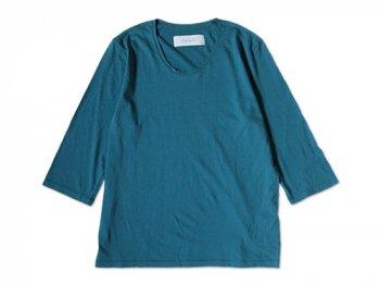 CURLY QS RM U-NECK Tee MARINE BLUE