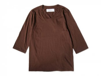 CURLY QS RM U-NECK Tee BROWN