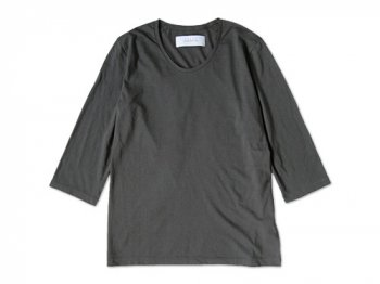 CURLY QS RM U-NECK Tee CHARCOAL