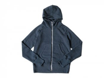 CURLY SPLASH 裏起毛 ZIP PARKA NAVY