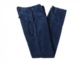 TATAMIZE CORDUROY BAKER PANTS INK BLUE