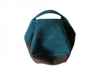 カンダミサコ circle bag mini 23:DARK BLUE x CHOCO