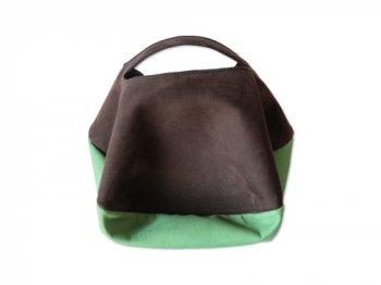 カンダミサコ circle bag mini 24:CHOCO x LIGHT GREEN