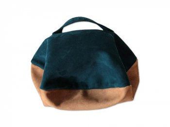 カンダミサコ circle bag mini 25:DARK BLUE x BROWN
