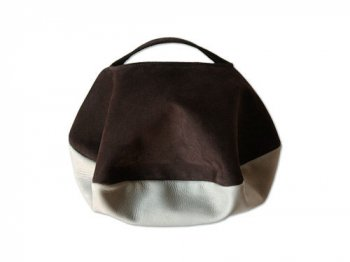 カンダミサコ circle bag mini 26:CHOCO x LIGHT GRAY