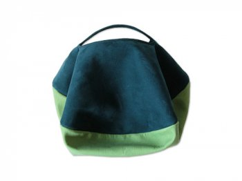 カンダミサコ circle bag mini 27:DARK BLUE x LIGHT GREEN