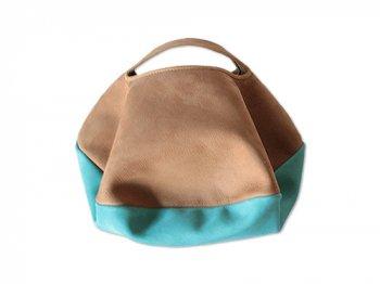 カンダミサコ circle bag mini 28:BROWN x TURQUOISE
