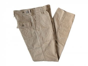 ordinary fits FATIGUE PANTS BEIGE