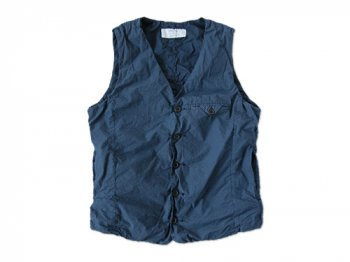 ordinary fits SHIRRING VEST NAVY