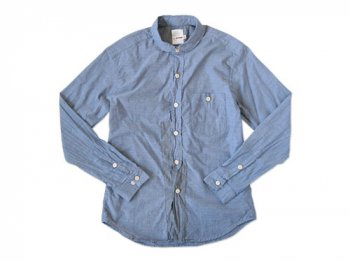 dip COTTON CHAMBRAY SHIRTS BLUE