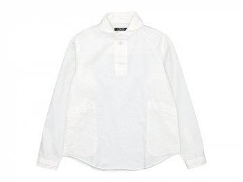 LOLO コットンプルオーバーシャツ WHITE
