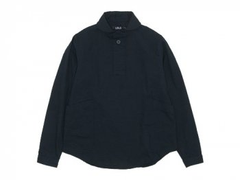 LOLO コットンプルオーバーシャツ BLACK