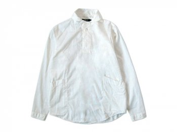 LOLO コットンシルクプルオーバーシャツ WHITE