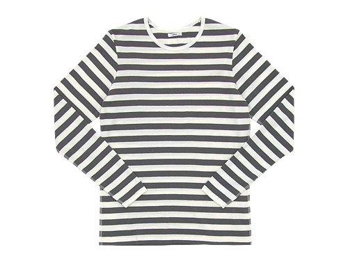 maillot ボーダー長袖Tシャツ GRAY