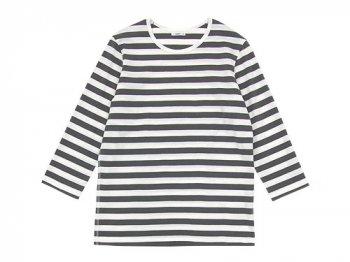 maillot ボーダー7分袖Tシャツ