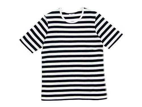 maillot ボーダー半袖Tシャツ BLACK