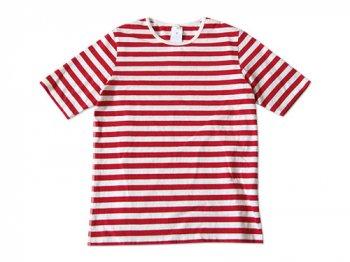maillot ボーダー半袖Tシャツ RED