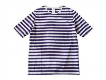 maillot ボーダー半袖Tシャツ PURPLE