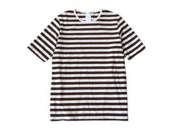maillot ボーダー半袖Tシャツ BROWN