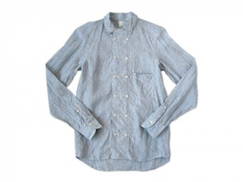 TATAMIZE DOUBLE BRESTED LINEN SHIRTS STRIPE