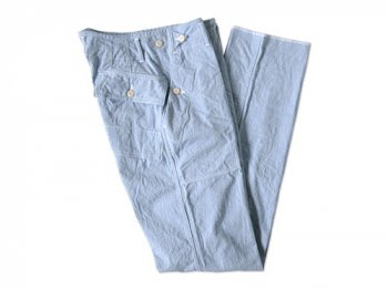 TATAMIZE BAKER PANTS BLUE STRIPE