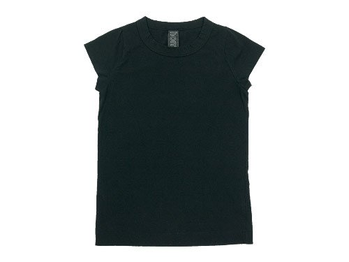 homspun 天竺フレンチスリーブTシャツ ブラック 【6906】