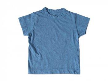 【Kid's】 homspun 天竺 半袖Tシャツ TOPブルー