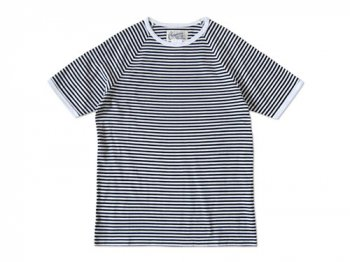 Charpentier de Vaisseau NARROW STRIPES SHORT SLEEVES BLACK x WHITE