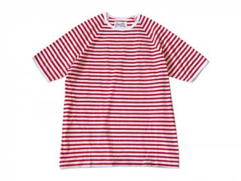 Charpentier de Vaisseau MIDDLE STRIPES SHORT SLEEVES RED x WHITE