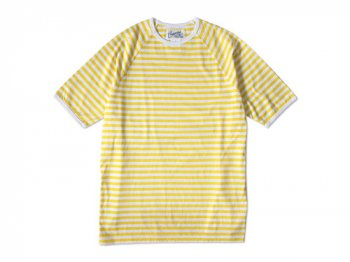 Charpentier de Vaisseau MIDDLE STRIPES SHORT SLEEVES YELLOW x WHITE