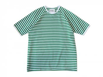 Charpentier de Vaisseau MIDDLE STRIPES SHORT SLEEVES GREEN x WHITE