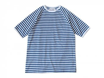 Charpentier de Vaisseau MIDDLE STRIPES SHORT SLEEVES BLUE x WHITE