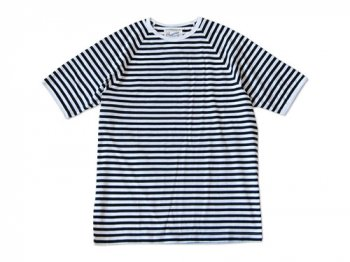 Charpentier de Vaisseau MIDDLE STRIPES SHORT SLEEVES NAVY x WHITE