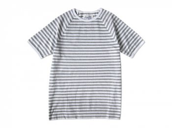 Charpentier de Vaisseau MIDDLE STRIPES SHORT SLEEVES GRAY x WHITE