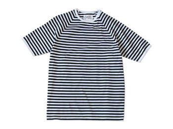 Charpentier de Vaisseau MIDDLE STRIPES SHORT SLEEVES BLACK x WHITE