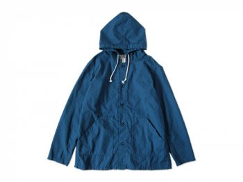 Charpentier de Vaisseau HOODED COTTON BLOUSON BLUE