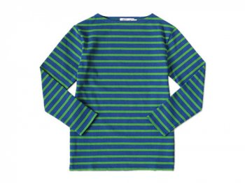 Charpentier de Vaisseau MARINIER ボーダーカットソー ROYAL BLUE x GREEN