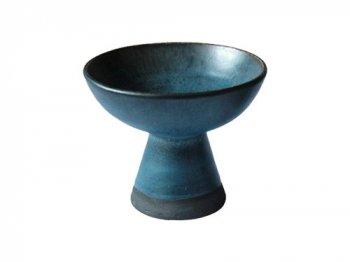 陶器のキャンドルホルダー ブルー