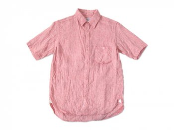 ordinary fits S/S LITHUANIA LINEN SHIRT RED