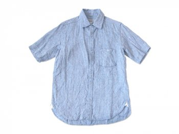 ordinary fits S/S LITHUANIA LINEN SHIRT BLUE